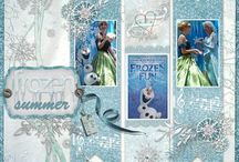 'Frozen' scrapbook layouts