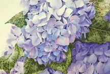 watercolor flowers / Watercolor flowers, flower art, floral art, rose