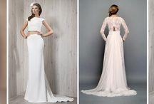 Dwuczęściowe sukienki ślubne