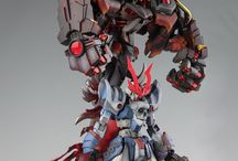 Gunpla Custom Build / Collection of Custom Gundam. Custom Build (Panel Line, Custom Paint, Custom Parts).