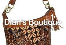 Lederen Tas Batik