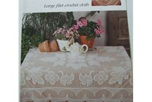 Tablecloths, covers, thread crochet patterns