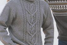 Gebreide herentruien en vesten/ Knitted men's sweaters and vests