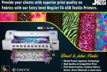 Textile Printers / Negi Sign Systems and Supplies provides complete range of textile printing solutions with it range of NegiJet Textile Printers from 64 inches to 104 inches. Print on Fabric, Sarees, Home Textiles with NegiJet Textile Printers