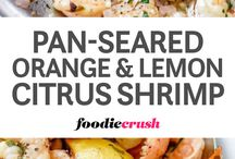 Pan seared citrus shrimps