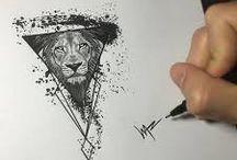 Tatuajes león