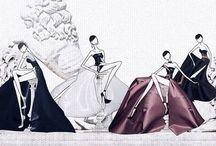 JSK Illustration / Fashion illustrations featuring Susu girls by JaeSuk Kim (JSK) http://store.jaesukkim.net
