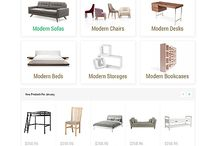 Online furniture stores / Profiling trendy online furniture stores and their commercial display value.