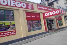 Diego Angyalföld áruház épülete .XIII.Lehel utca 12. Budapest. / Diego Angyalföld áruház épülete .XIII.Lehel utca 12. Budapest.