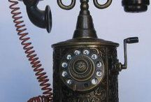 Ornate cast telephone / Pattern and design with period twist.