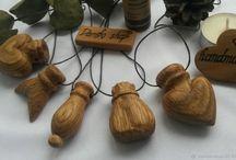 Деревянные аромакулоны