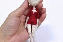 háčkované panenky,zvířátka -crocheted dolls, animals