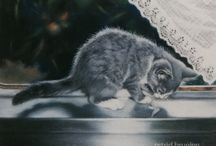 Peintre (Astrid Bruning) / Ravissants portraits de chats