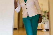white and turquoise combo / white blazer/ turquoise chino pants