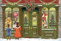 Old Christmas shops / En winkeltjes
