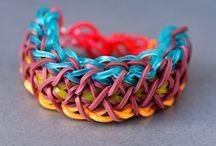 Rainbow loom bracelets <3