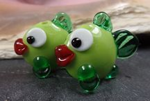 Fish - Lampwork Glass Beads, made by me