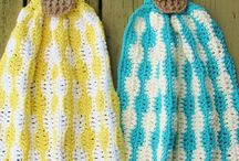 Crochet kitchen towels