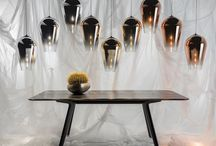 Tom Dixon Fade Lights / A metallised tear drop pendant that focusses the lightbulb's output into a satisfyingly round and luminous circle. Its metallised finish graduates from completely reflective to transparent along the body of the light.