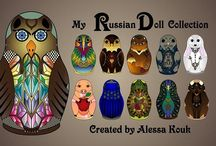 My Russian Doll Collection / The famous Russian doll 'Matryoshka' becomes a source of inspiration. Lending me her shape, she gives form to animal figures ... A special project with influences from different cultures.