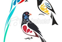 Stylised birds