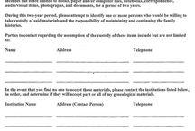 Genealogy: Forms