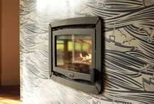 VLAZE Fireside / Vitreous Enamel for the Fireplace. Wall mounted heat shields and insert surrounds www.vlaze.co