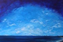 Beach (115 x 85cm) / Australian Coastline Series Original acrylic on canvas (gallery quality)  All art is copyright