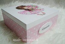 Hand Made by ASART / Ręcznie ozdabiane szkatułki, pudełka, kuferki  i inne przedmioty. Spersonalizowane upominki i prezenty wykonywane na zamówienie.