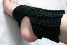 crochet slippers, socks