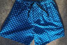 Freshwe Shorts / Handmade Shweshwe summer shorts made locally in Grahamstown