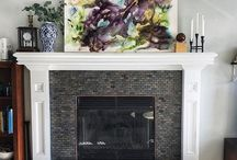 Jenny Johannsen Art | Art in Spaces / Abstract Art by Jenny Johannsen hanging in beautiful spaces.  Nothing completes a room more than art whether it is a gallery wall or a large scale piece...and this vibrant pictures prove it.