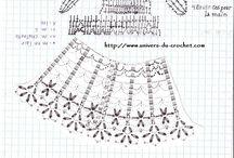 ドレスを着た婦人編み図