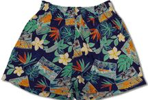Bamboo Boxer Shorts / 100% Cotton Fabric | Made in Hawaii, U.S.A. | Genuine Coconut Shell Button Fly Closure | Extra Soft Inside Exposed Wide Elastic Band for Comfort | Double Stitching Withstands Many Washing | Many Women Choose to Wear Our Bamboo Boxers as Workout Shorts, Beach Cover-ups, Nightwear, or simply for Lounging Around the house.