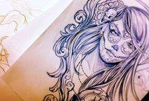 Tatuajes Calavera De Alfeñique