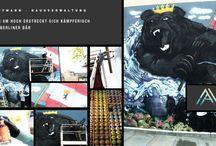Artvision künstlerische Fassadengestaltung / hier einige Werke unseres Teams