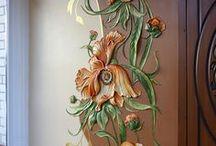фрески. барельефы