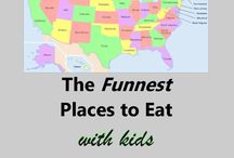 Fun Places to Eat on Vacation / Fun places to eat with your family while on vacation.