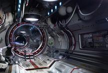 space ship corridor design