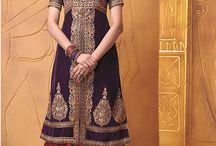 Designer / Anarkali suits / Beautiful collection designer suits on Semi Pure Georgette