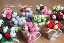 цветы гофре