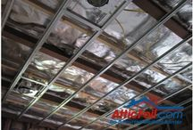 Radiant Barrier - Commercial Buildings / If you are looking to control heat (stop if from coming in or stop it from leaving) then the only thing you need is a layer of radiant barrier foil between the roof and the inside of the buidling