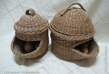 корзинки для лука и чеснока плетение