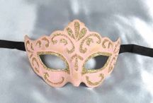 Masquerade Masks in Pink / Just Posh Masks selection of pink masks. From light baby pink to shocking fuchsia cerise pink all with either silver or gold trim. Feathered masks, carnival masks. Find your favorite pink mask and Pin It