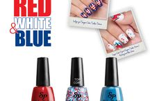 Salon Perfect - Rockin the Red, White and Blue / This summer Let Freedom Bling with Salon Perfect®'s Fourth of July inspired Rockin' the Red, White and Blue nail art collection. Throw your Spirit Fingers in the air to show off the ultimate Pa-Tri-Otic manicure. The limited edition collection features seven Speck-Tacular Americana inspired glitter top coats Boom, Boom, Boom-ing with dots, stars, stripes and triangles. Available I'm June 2015 at your nearest Walmart stores nationwide.