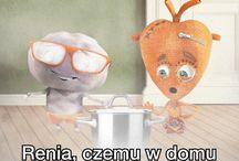 Serce i Rozum / Serce i Rozum to Orange Postacie Heart and Mind are Orange Characters