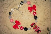 CHUNKY BEAD NECKLACES  / Made with my Polymer creations Pieces / by Betty Escobar