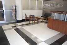 Asheville Citizen-Times / The Asheville Citizen-Times in Asheville, NC selected Fritztile to add a pop of low maintenance, high style terrazzo tile to their office lobby. It turned out great! So many creative possibilities with one square foot of Fritz...