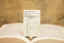 Library Themed Wedding / Set the tone of your event with a library book themed wedding invitation set from LiveLoveLast.com