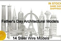 Architectural Steel Wire Models - Doodles / Authentically designed and perfectly constructed, our solid steel wire models represent the best in architectural replicas.  For home or office, each wire model makes a unique impression.  Each wire model stands around 12 inches. The mini wire models stand about 4 inches. #designideas #doodles #wiremodels